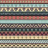 Stammen veelkleurig naadloos patroon, Indische of Afrikaanse etnische lapwerkstijl stock illustratie