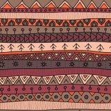 Stammen veelkleurig naadloos patroon, Indische of Afrikaanse etnische lapwerkstijl vector illustratie