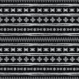 Stammen zwart-witte naadloos herhaalt patroon Stock Afbeelding