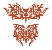 Stammendie het vlammen vlinders door het adelaarshoofd worden gevormd Royalty-vrije Stock Afbeelding