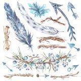 Stammenforest design elements set Stock Fotografie