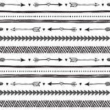Stammenhand getrokken achtergrond, het patroon van de ethiekkrabbel Stock Foto's