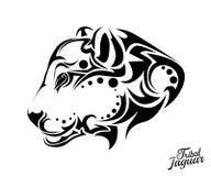 Stammenjaguar-tatoegering Stock Afbeelding