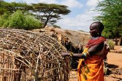 Stammenmensen van Afrika, Kenia royalty-vrije stock afbeelding