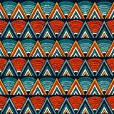 Stammenornament in trillende kleuren Naadloze abstracte vectorachtergrond vector illustratie