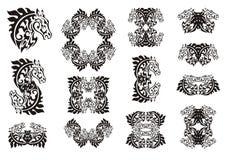 Stammenpaardreeks Royalty-vrije Stock Fotografie