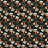 Stammenpaddestoelen Naadloos Patroon stock illustratie