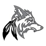 Stammenwolfshoofd Stock Fotografie