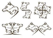 Stammenwolfssymbolen Stock Afbeelding