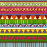 Stammes- abstraktes Muster Lizenzfreies Stockbild