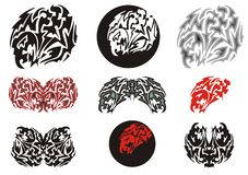 Stammes- Adlersymbole und Adlerkreise Lizenzfreies Stockbild