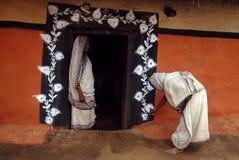 Stammes- Anstrich in Indien lizenzfreies stockbild
