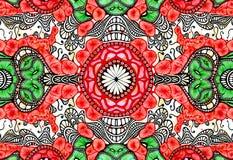 Stammes- Aquarellhintergrund Stockbild