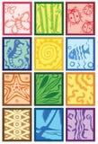 Stammes- Auslegung Stockbilder