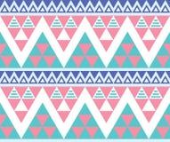 Stammes- aztekisches buntes nahtloses Muster lizenzfreie abbildung