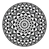 Stammes- aztekisches geometrisches Muster oder Druck im Kreis Lizenzfreies Stockbild