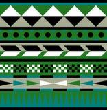 Stammes- aztekisches Muster von Erdfarben - Illustration Stockbilder