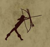 Stammes- Bogenschütze Stockfoto
