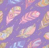 Stammes- boho aztekischer endloser Hintergrund Hand gezeichnete Abbildung Lizenzfreies Stockfoto