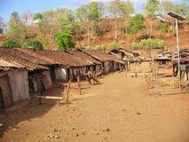 Stammes- Dorf stockbilder