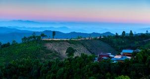 Stammes- Dorf Stockfotografie