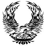 Stammes- Eagle mit Fahnen-Vektor-Illustration vektor abbildung