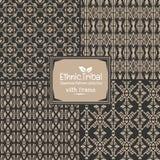 Stammes- ethnische Artsammlung des nahtlosen abstrakten Musters mit Franc Lizenzfreies Stockfoto