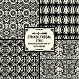 Stammes- ethnische Artsammlung des nahtlosen abstrakten Musters mit Franc Lizenzfreies Stockbild