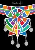 Stammes- ethnische Verzierung der Brust vektor abbildung