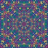 Stammes- ethnischer Hintergrund des abstrakten Vektors nahtlos Lizenzfreie Stockfotos