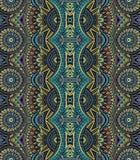 Stammes- ethnisches bseamless Muster des abstrakten Vektors stock abbildung