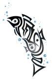 Stammes- Fische mit Blasen Lizenzfreie Stockbilder