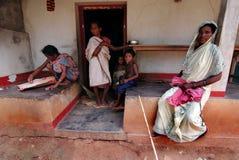 Stammes- Gemeinschaft in Orissa Stockbild
