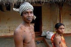 Stammes- Gemeinschaft in Orissa Stockfotografie
