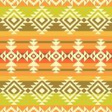 Stammes- geometrisches gestreiftes Muster Lizenzfreie Stockfotografie