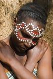Stammes- Gesicht lizenzfreie stockfotografie