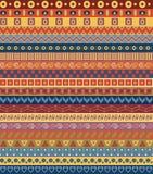 Stammes- gestreiftes nahtloses Muster. Lizenzfreie Abbildung