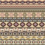 Stammes- gestreiftes nahtloses Muster. Stock Abbildung