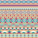 Stammes- gestreiftes nahtloses Muster. Stockfoto