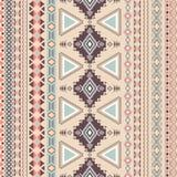Stammes- gestreiftes nahtloses Muster. Stockbild