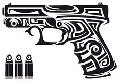 Stammes- Gewehr Stockfotografie