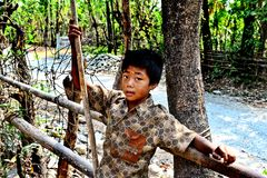 Stammes- Junge Lizenzfreie Stockbilder