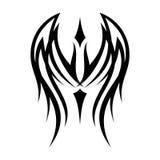 Stammes- Konzept des Entwurfes des besten kreativen Schattenbildillustrationsflügels stock abbildung