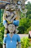 Stammes- Kultur des traditionellen Dayak in Indonesien Lizenzfreies Stockfoto