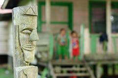 Stammes- Kultur des traditionellen Dayak, Indonesien Stockbild