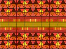 Stammes- Kunstdruck Ikat Nahtloses afrikanisches Muster stock abbildung