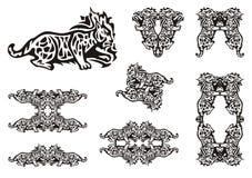 Stammes- Luchssymbole Lizenzfreie Stockbilder