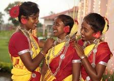 Stammes- Mädchen stockfotografie