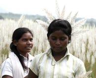 Stammes- Mädchen stockbilder