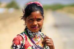 Stammes- Mädchen Rajasthans Lizenzfreie Stockbilder